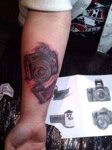 badass black and white Tattoo